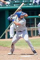 Midland RockHounds designated hitter Josh Whitaker (26) at bat during the Texas League baseball game against the San Antonio Missions on June 28, 2015 at Nelson Wolff Stadium in San Antonio, Texas. The Missions defeated the RockHounds 7-2. (Andrew Woolley/Four Seam Images)