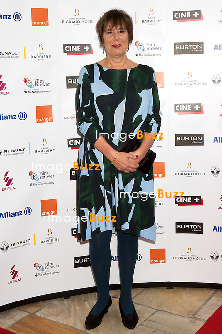 Rebecca O'Brien lors de la soir&eacute;e d'ouverture du 27&egrave;me Festival du film britannique de Dinard. <br /> France, Dinard, 29 septembre 2016.<br /> Opening night of 27th Edition of the Dinard British Film Festival.<br /> France, Dinard, 29 September 2016.