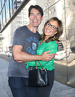 NEW YORK, NY- AUGUST 9:  Jerry O'Connell with Good Day NY host, Rosanna Scotto at Good Day NY promoting his new talk show Jerry O on August 09, 2019 n New York City.  <br /> CAP/MPI/RW<br /> ©RW/MPI/Capital Pictures