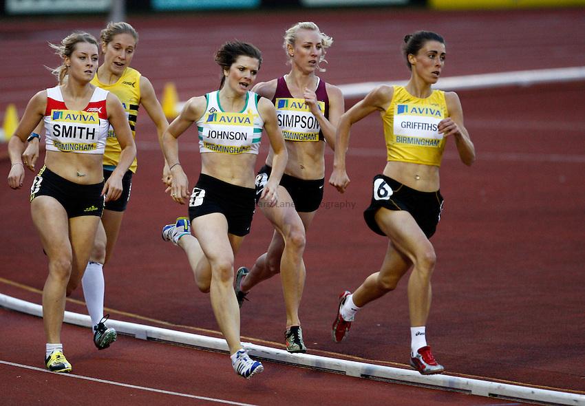 Photo: Richard Lane/Richard Lane Photography..Aviva World Trials & UK Championships athletics. 10/07/2009. Women's 800m heat.