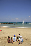 Israel, Sharon region, Beach of Hadera