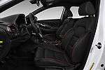 Front seat view of a 2018 Hyundai Elantra GT GT Sport MT 5 Door Hatchback front seat car photos