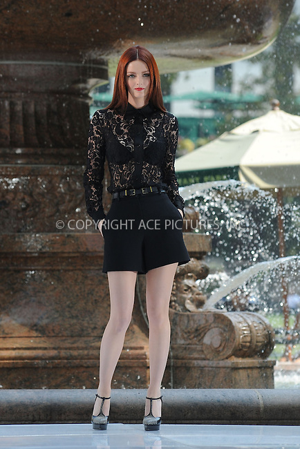 WWW.ACEPIXS.COM<br /> September 11, 2013 New York City<br /> <br /> Lydia Hearst taping a segment for 'The Face' in Bryant Park on September 11, 2013 in New York City.<br /> <br /> By Line: Kristin Callahan/ACE Pictures<br /> <br /> ACE Pictures, Inc.<br /> tel: 646 769 0430<br /> Email: info@acepixs.com<br /> www.acepixs.com<br /> Copyright:<br /> Kristin Callahan/ACE Pictures