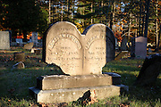 West Epping Cemetery during the autumn months in West Epping, New Hampshire USA.