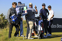 Morten Orum Madsen (DEN) on the 8th tee during Round 1 of the 2015 Alfred Dunhill Links Championship at Kingsbarns in Scotland on 1/10/15.<br /> Picture: Thos Caffrey | Golffile