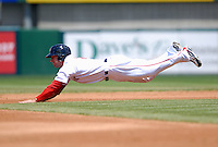 Pawtucket Red Sox' OF RYAN KALISH during a game vs. the Syracuse Chiefs at McCoy Stadium in Pawtucket, Rhode Island July 11, 2010.    Photo By Ken Babbitt/Four Seam Images