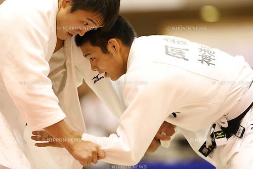 (L-R)<br /> Takamasa Sueki,<br /> Hifumi Abe,<br /> September 13, 2014 - Judo : <br /> All Japan Juior Judo Championships <br /> Men's -66kg Final<br /> at Saitama Kenritsu Budokan, Saitama, Japan. <br /> (Photo by Shingo Ito/AFLO SPORT) [1195]