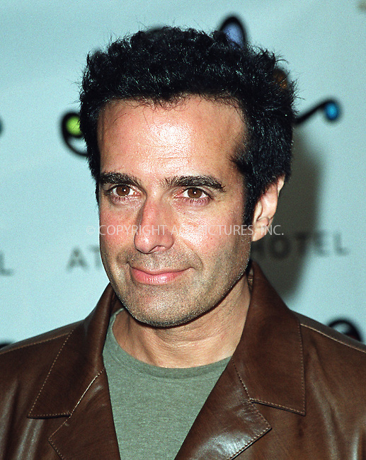 David Copperfield arrives at the opening of Britney Spears' restaurant Nyla at New York's Dylan Hotel. June 27, 2002. Please byline: Alecsey Boldeskul/NY Photo Press.   ..*PAY-PER-USE*      ....NY Photo Press:  ..phone (646) 267-6913;   ..e-mail: info@nyphotopress.com