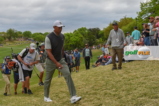 Tiger Woods (USA) heads to the tee on 4 during day 4 of the WGC Dell Match Play, at the Austin Country Club, Austin, Texas, USA. 3/30/2019.<br /> Picture: Golffile   Ken Murray<br /> <br /> <br /> All photo usage must carry mandatory copyright credit (© Golffile   Ken Murray)