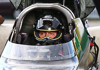 Sept. 1, 2013; Clermont, IN, USA: NHRA top alcohol dragster driver Ken Perry during qualifying for the US Nationals at Lucas Oil Raceway. Mandatory Credit: Mark J. Rebilas-