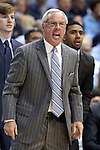 24 January 2015: UNC head coach Roy Williams. The University of North Carolina Tar Heels played the Florida State University Seminoles in an NCAA Division I Men's basketball game at the Dean E. Smith Center in Chapel Hill, North Carolina. UNC won the game 78-74.