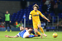 Preston North End's Ben Pearson is tackled by Ipswich Town's Cole Skuse<br /> <br /> Photographer David Shipman/CameraSport<br /> <br /> The EFL Sky Bet Championship - Ipswich Town v Preston North End - Saturday 3rd November 2018 - Portman Road - Ipswich<br /> <br /> World Copyright &copy; 2018 CameraSport. All rights reserved. 43 Linden Ave. Countesthorpe. Leicester. England. LE8 5PG - Tel: +44 (0) 116 277 4147 - admin@camerasport.com - www.camerasport.com