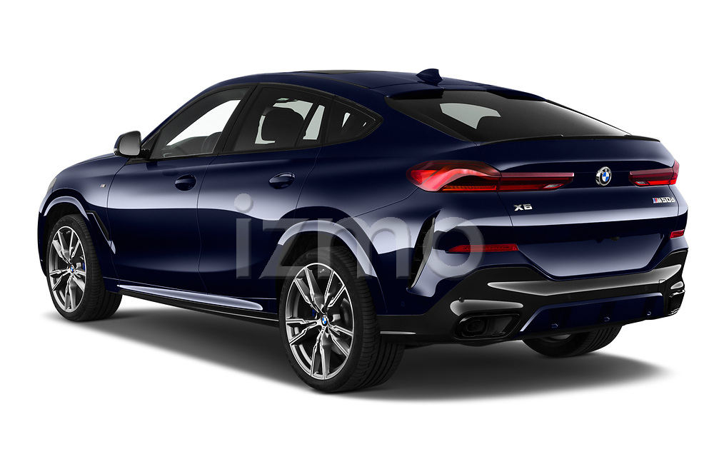 Car pictures of rear three quarter view of a 2020 BMW X6 Base 5 Door SUV angular rear