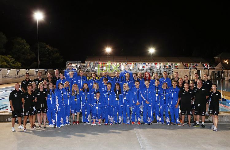 PICTURE BY VAUGHN RIDLEY/SWPIX.COM - Swimming - IPC Swimming World Championships 2013 - Parc Jean-Drapeau Aquatic Complex, Montreal, Canada - 18/08/13 - Great Britain Team and Coaches.