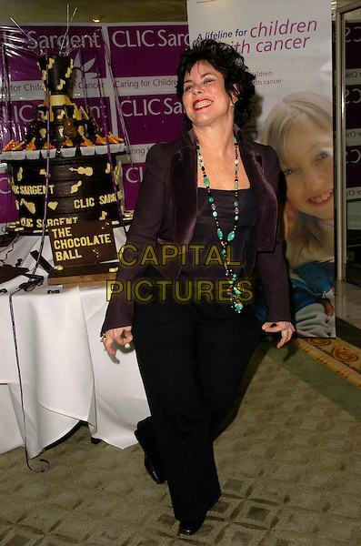 RUBY WAX.at the CLIC Sargent Childrens Cancer Charity's Annual Chocolate Ball at The Dorchester Hotel, London, England, March 23 2007..full length black trouser suit green necklace.CAP/CAN.©Can Nguyen/Capital Pictures