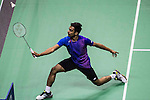 Sameer Verma of India competes against Chong Wei Feng of Malaysia during the 2016 Hong Kong Open Badminton Championships at the Hong Kong Coliseum on November 25, 2016 in Hong Kong, China. Photo by Marcio Rodrigo Machado / Power Sport Images