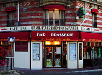 Le Saint Germain Bar & Brasserie in Maison Lafitte, a wealthy suburb of Paris, France.