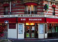Le Saint Germain Bar & Brasserie in Maison Lafitte, a wealthy suburb of Paris, France.