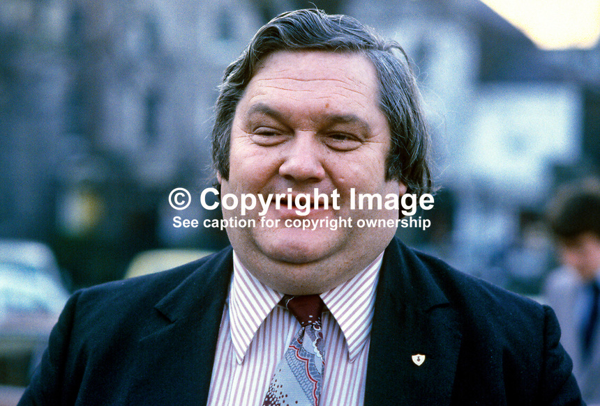 Flor Crowley, 27 December 1934 - 16 May 1997, Fianna Fail, politician, West Cork, Rep of Ireland, county councillor, TD, 31/80, 1980020031FC..Copyright Image from Victor Patterson, 54 Dorchester Park, Belfast, UK, BT9 6RJ..Tel: +44 28 9066 1296.Mob: +44 7802 353836.Voicemail +44 20 8816 7153.Skype: victorpattersonbelfast.Email: victorpatterson@mac.com.Email: victorpatterson@ireland.com (back-up)..IMPORTANT: If you wish to use this image or any other of my images please go to www.victorpatterson.com and click on the Terms & Conditions. Then contact me by email or phone with the reference number(s) of the image(s) concerned.