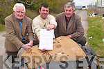 LETTER: Local residents who have written to Kerry County Council demanding that a barrier be erected at back of the Blennerville Windmill to prevent dumping l-r: Moss O'Donnell, Val Burke and Johnny Kelly..   Copyright Kerry's Eye 2008