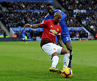 Manchester United's Ashley Young battles with Leicester City's Wilfred Ndidi<br /> <br /> Photographer Hannah Fountain/CameraSport<br /> <br /> The Premier League - Leicester City v Manchester United - Sunday 3rd February 2019 - King Power Stadium - Leicester<br /> <br /> World Copyright © 2019 CameraSport. All rights reserved. 43 Linden Ave. Countesthorpe. Leicester. England. LE8 5PG - Tel: +44 (0) 116 277 4147 - admin@camerasport.com - www.camerasport.com