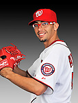 25 February 2011: Washington Nationals' pitcher Luis Atilano poses for his Photo Day portrait at Space Coast Stadium in Viera, Florida. Mandatory Credit: Ed Wolfstein Photo