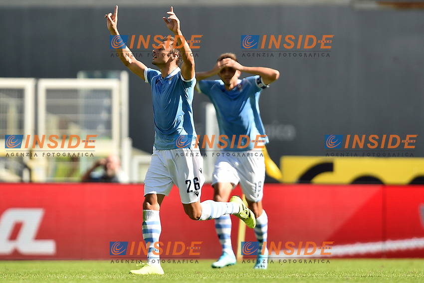 Stefan Radu of SS Lazio celebrates after scoring the goal of 2-0 for his side <br /> Roma 29-9-2019 Stadio Olimpico <br /> Football Serie A 2019/2020 <br /> SS Lazio - Genoa CFC <br /> Foto Andrea Staccioli / Insidefoto
