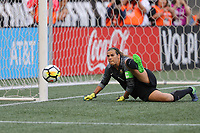 Seattle, WA - Thursday July 27, 2017: Lydia Williams during a 2017 Tournament of Nations match between the women's national teams of the United States (USA) and Australia (AUS) at CenturyLink Field.