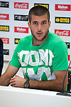 Rayo Vallecano's new player Ruben Ivan Martinez Andrade during his presentation. July, 20, 2012. (Alterphotos/Ricky)