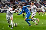 10.03.2019, Prezero-Arena, Sinsheim, GER, 1 FBL, TSG 1899 Hoffenheim vs 1. FC Nuernberg, <br /> <br /> DFL REGULATIONS PROHIBIT ANY USE OF PHOTOGRAPHS AS IMAGE SEQUENCES AND/OR QUASI-VIDEO.<br /> <br /> im Bild: Nico Schulz (TSG 1899 Hoffenheim #16) gegen Enrico Valentini (#22, 1. FC Nuernberg) und Robert Bauer (#8, 1. FC Nuernberg)<br /> <br /> Foto &copy; nordphoto / Fabisch