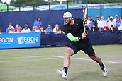 June 15th 2017, Nottingham, England; ATP Aegon Nottingham Open Tennis Tournament day 6;  Sam Groth of Australia moves in to the net as he beat Brydan Klein of Great Britain in two sets