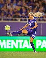 Orlando, Florida - Sunday, May 14, 2016: Orlando Pride midfielder Kaylyn Kyle (6) during a National Women's Soccer League match between Orlando Pride and New York Flash at Camping World Stadium.