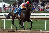 ARCADIA, CA  APRIL 7: #3 Heck Yeah, ridden by Mike Smith, in the stretch of the Echo Eddie Stakes on April 7, 2018 at Santa Anita Park Arcadia, CA.  (Photo by Casey Phillips/ Eclipse Sportswire/ Getty Images)