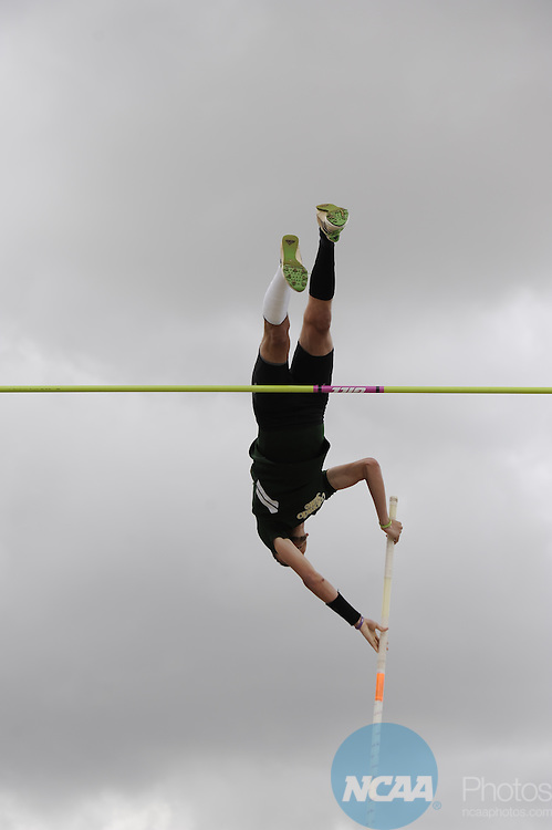 17 MAY 2014: Athletes compete during the Mountain West Conference Men's and Women's Outdoor Track & Field Championship held at the Madrid Sports Complex on the University of Wyoming campus in Laramie, WY.  Evert Nelson/NCAA Photos