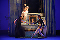 London, UK. 25.03.2016. balletLORENT presents SNOW WHITE, as part of the Family Weekend, at Sadler's Wells. Artistic Director, Liv Lorent (MBE), directs and choreographs. Set design is by Phil Eddols, with lighting design by Malcolm Rippeth, and costume design by Libby Everall. balletLORENT's 11 professional dancers are joined by a cast of 12 local children from Vittoria Primary School in the Islington Borough, aged 6 - 9 years old. Picture shows: Natalie Trewinnard (Snow White), Caroline Reece (Queen), John Kendall (King). Photograph © Jane Hobson.