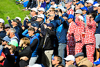 Spectators during the Saturday Fourballs at the Ryder Cup, Le Golf National, Paris, France. 29/09/2018.<br /> Picture Phil Inglis / Golffile.ie<br /> <br /> All photo usage must carry mandatory copyright credit (&copy; Golffile | Phil Inglis)