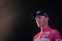 Maglia Rosa / overall winner Chris Froome (GBR/SKY) on the final podium in Rome<br /> <br /> stage 21: Roma - Roma (115km)<br /> 101th Giro d'Italia 2018