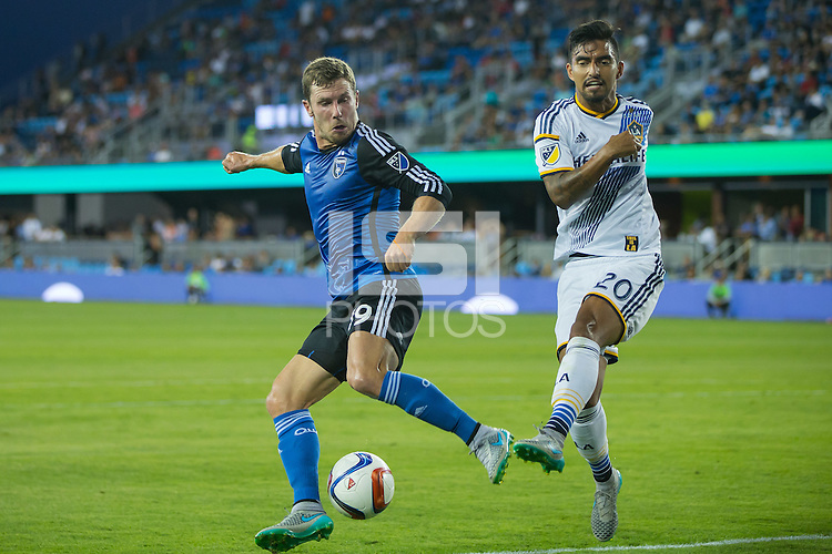 San Jose, California - July 1, 2015: The San Jose Earthquakes vs LA Galaxy during the Lamar Hunt U.S. Open Cup at Avaya Stadium. Final Score Galaxy 1, Earthquakes 0.