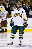 Corey Carlson (Vermont - 13) - The Boston College Eagles defeated the University of Vermont Catamounts 4-0 in the Hockey East championship game on Saturday, March 22, 2008, at TD BankNorth Garden in Boston, Massachusetts.