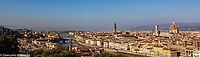 Italy, Florence Michelangelo plaza landscape view