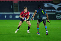 Mike Haley of Munster in action during the Heineken Champions Cup Round 1 match between the Ospreys and Munster at the Liberty Stadium in Swansea, Wales, UK. Saturday 16th November 2019