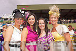Jemma Doyle, Catherine O'Shea, Lisa O'Sullivan, Marie Murphy Trachers from Cuillina National School pictured at Killarney Races Ladies day on Thursday.