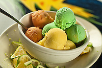 """Armstrong's Homemade Ice Cream Cruzan cuisine """"West Indian local dishes"""""""