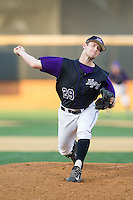 High Point Panthers relief pitcher Cas Silber (29) in action against the Wake Forest Demon Deacons at Wake Forest Baseball Park on April 2, 2014 in Winston-Salem, North Carolina.  The Demon Deacons defeated the Panthers 10-6.  (Brian Westerholt/Four Seam Images)