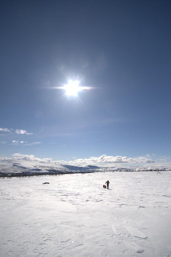 Skiing in Sarek,Sweden
