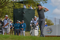 Ross Fisher (ENG) watches his tee shot on 3 during day 2 of the World Golf Championships, Dell Match Play, Austin Country Club, Austin, Texas. 3/22/2018.<br /> Picture: Golffile | Ken Murray<br /> <br /> <br /> All photo usage must carry mandatory copyright credit (&copy; Golffile | Ken Murray)