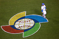 23 March 2009: A player of Korea walks back to the dugout following the defeat against Japan at the end of  the 2009 World Baseball Classic final game at Dodger Stadium in Los Angeles, California, USA. Japan defeated Korea 5-3