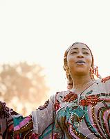 Bani Koni, a famous singer and role model in Bamako, Mali