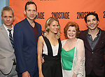 Bruce Norris, Stephen Kunken, Celia Keenan-Bolger, Anita Gillette, Juan Castano attend the Opening Night Party for 'A Parallelogram'  on August 2, 2017 at Havana Central in New York City.