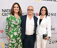 "BEVERLY HILLS - MAY 9: (L-R) National Geographic Global Scripted Content & Documentary Films EVP Carolyn Bernstein, Fox 21 Television Studios President Albert J. Salke, and National Geographic Global Television Networks President Courteney Monroe attend the L.A. premiere of National Geographic's 3-Night Limited Series ""The Hot Zone"" at the Samuel Goldwyn Theater on May 9, 2019 in Beverly Hills, California. The Hot Zone premieres Monday, May 27, 9/8c. (Photo by Frank Micelotta/National Geographic/PictureGroup)"